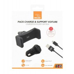 Pack including 2 USB car charger   compact air tnb