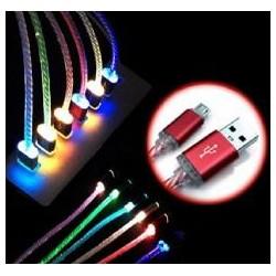 Cable carga y datos USB tipoC con luz verde WIRBOO