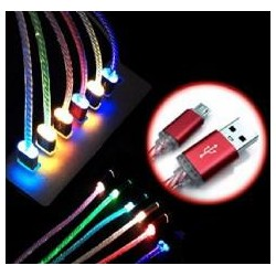 Cable de carga y datos USB 8pines LUZ VERDE WIRBOO