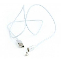 Magnetic Micro USB cable  silver  1 m WIRBOO