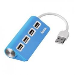 PC Hub USB 2 0 Pasivo 1 4 Azul BL