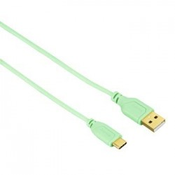 Cable PC USB Type C - USB A 2 0 0 75m Verde hama