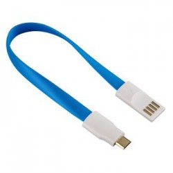Cable MicroUSB Magnet Azul