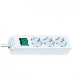 Mul Regleta Eco Blanca 3 Tomas Interruptor