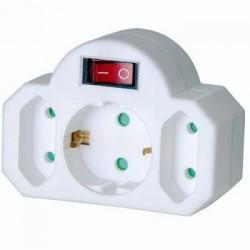 Distribuidor 3 Tomas Interruptor