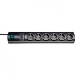 Regleta Primera Negro 6 Tomas Interruptor Protecto